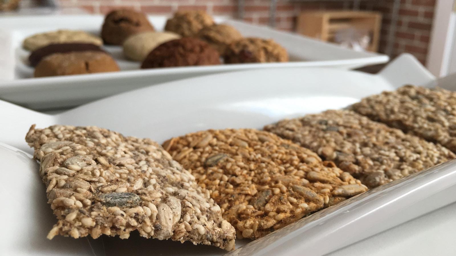 La fabrique gourmande propose différentes sortes de biscuits et de craquelins artisanaux.
