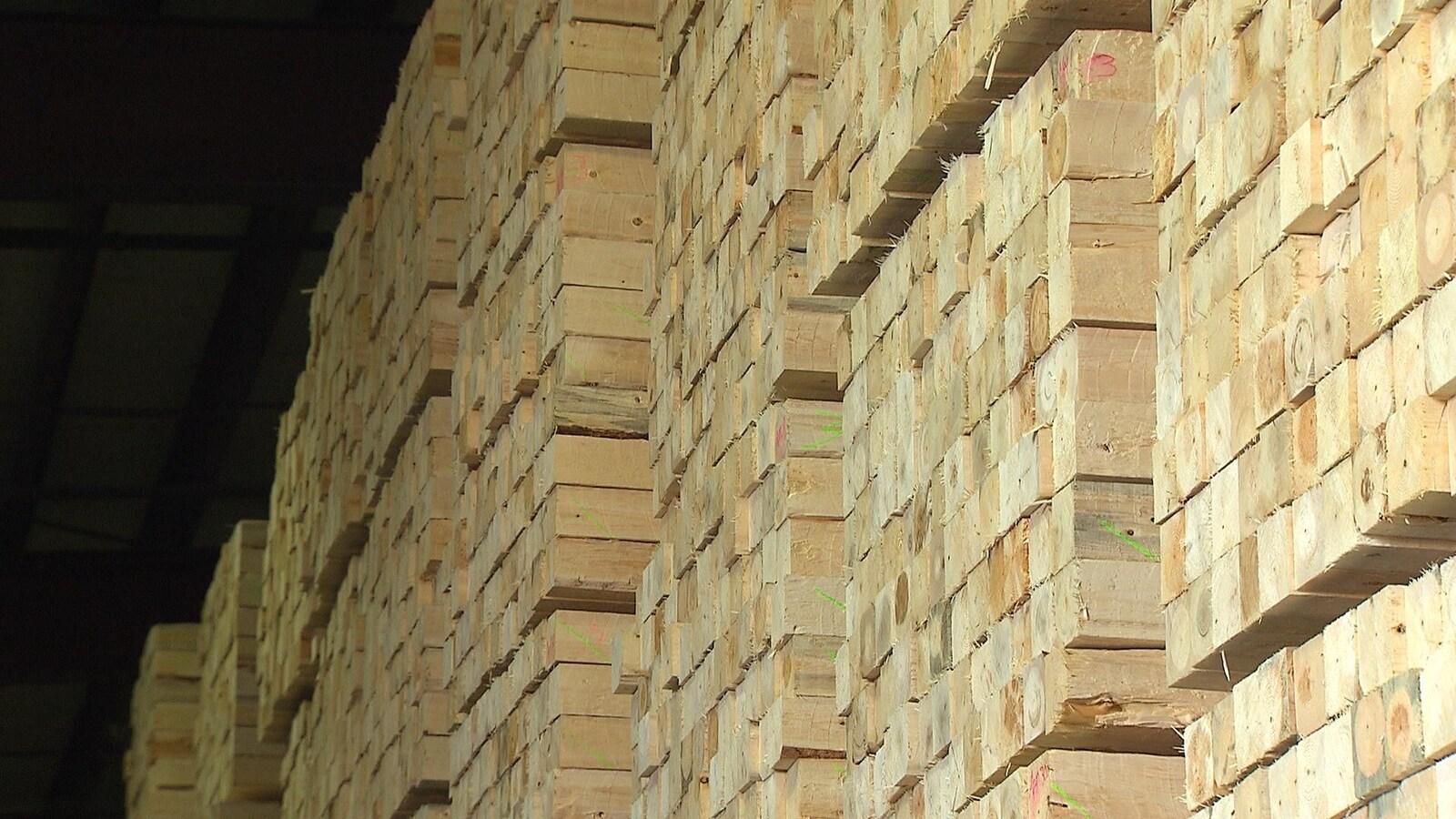 Du bois d'oeuvre destiné à l'exportation.
