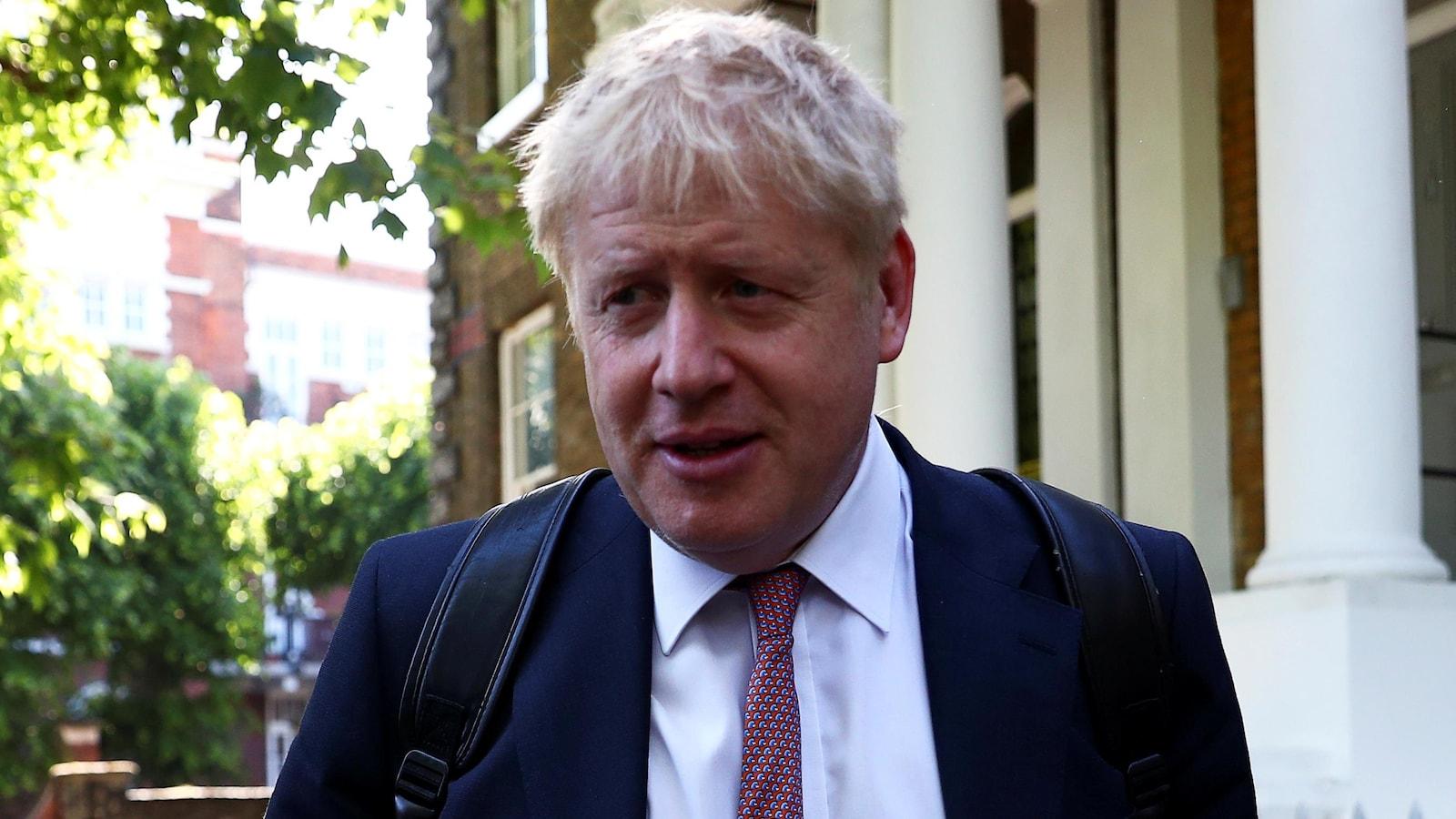 Boris Johnson, ancien ministre des Affaires étrangères et ex-maire de Londres en gros plan.