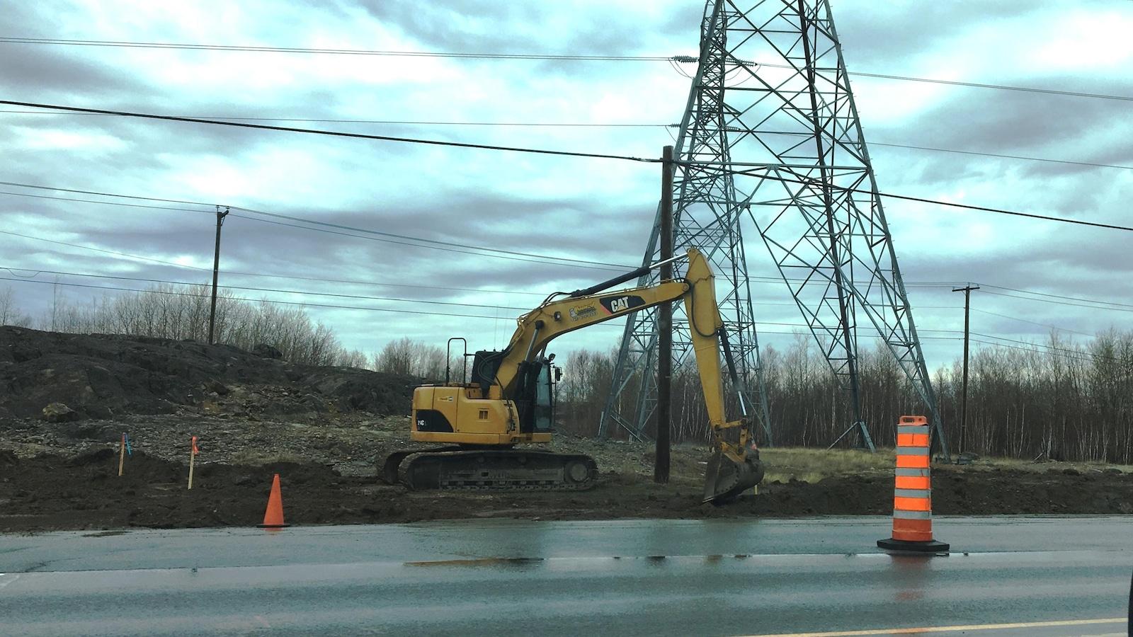 Des travaux sont en cours sur le boulevard Saguenay, à Rouyn-Noranda.