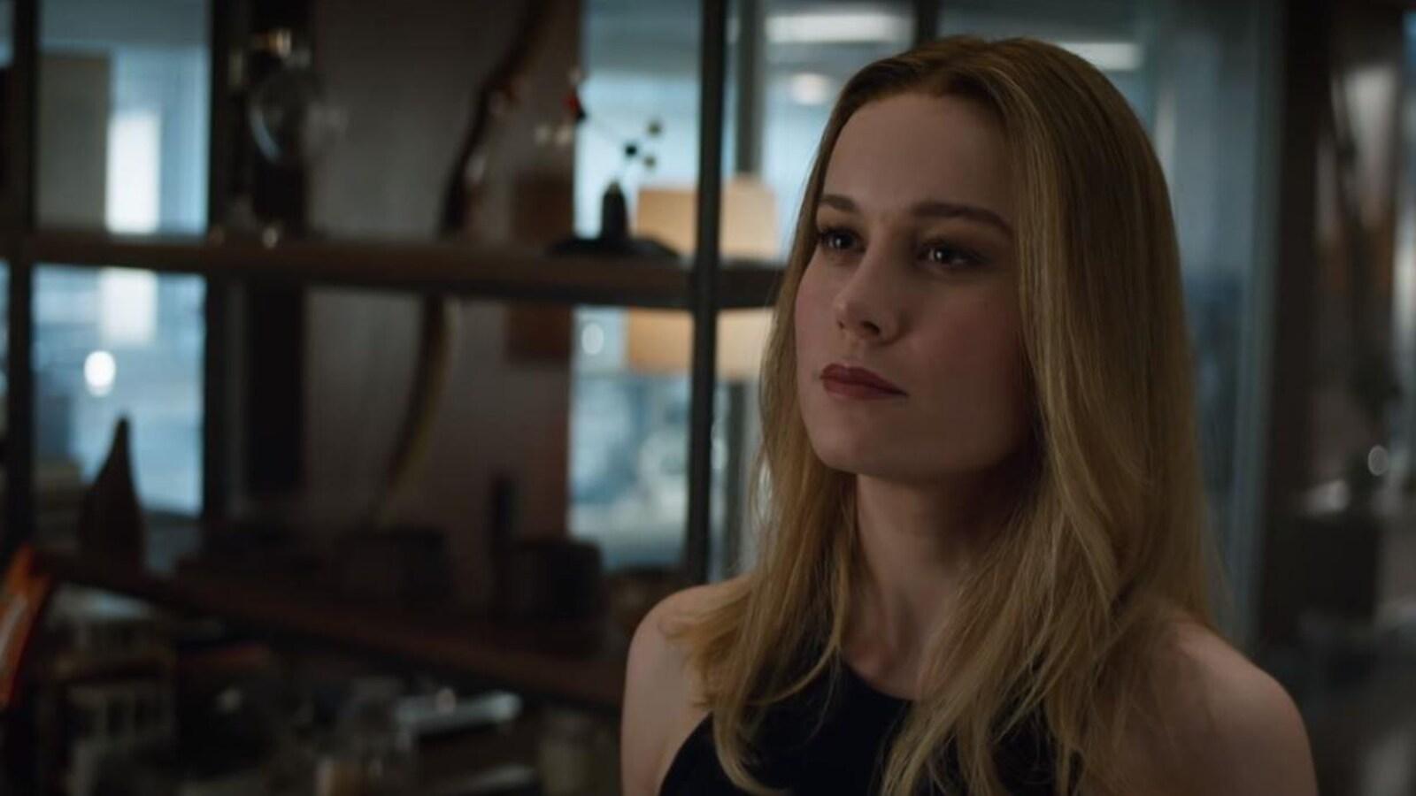 Carol Danvers, alias Capitaine Marvel (incarnée par l'actrice Brie Larson), dans une image tirée de la bande-annonce