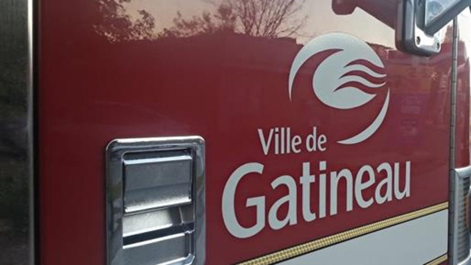 Un véhicule du Service de sécurité incendie de Gatineau