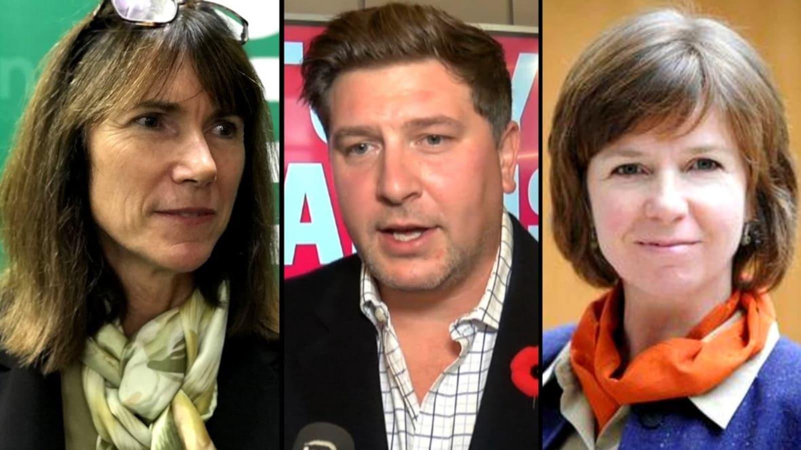 Des photos des trois candidats aux élections partielles de Nanaimo
