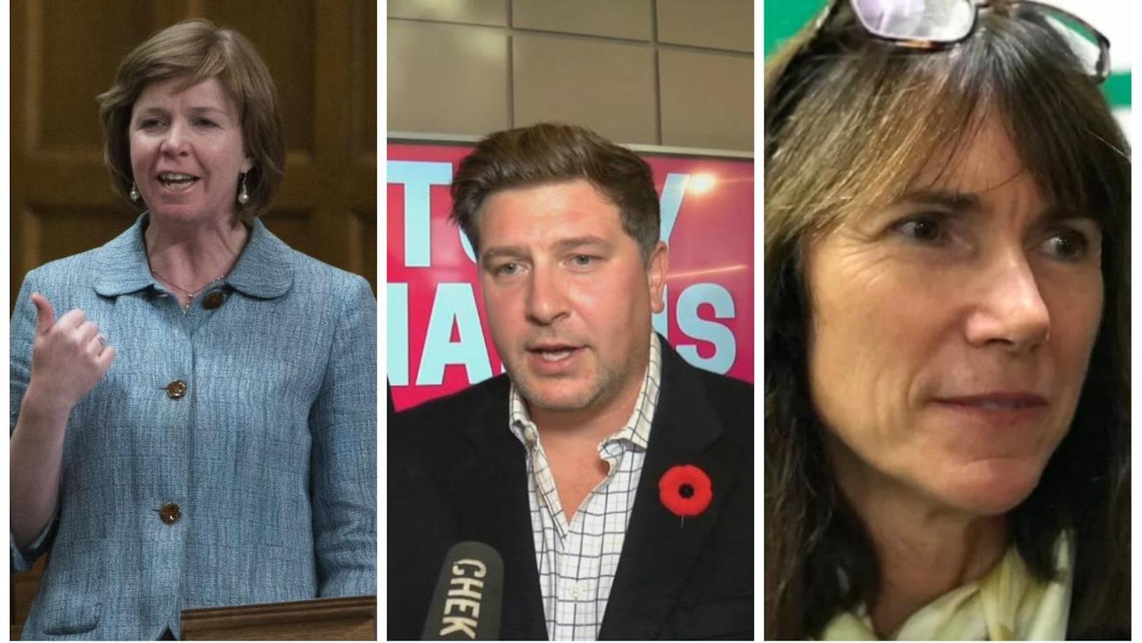 Montage photo des trois candidats.