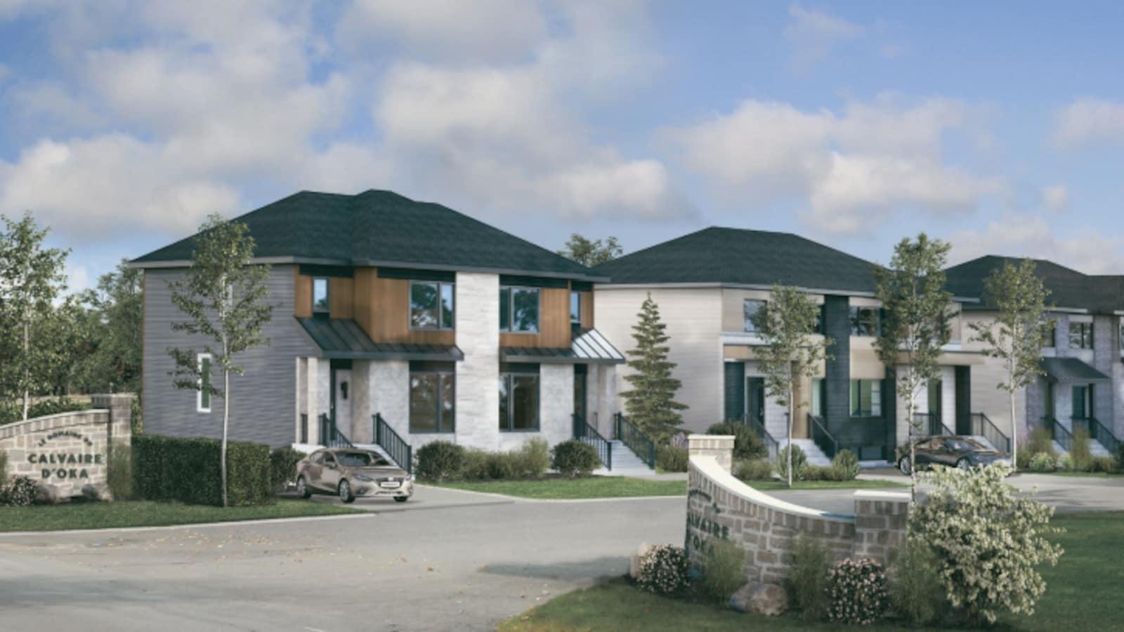 Maquette du projet immobilier du Domaine du Calvaire d'Oka