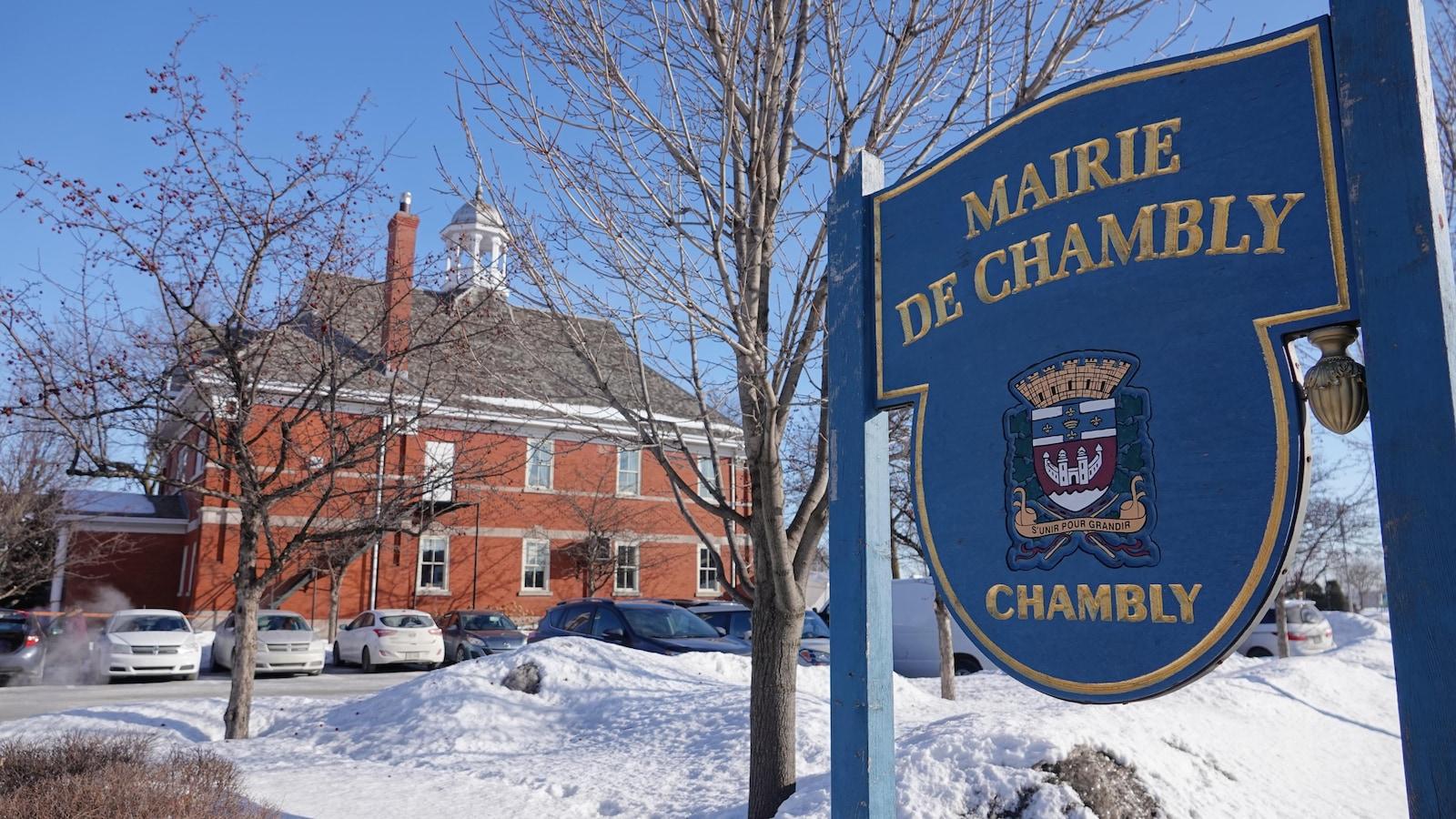 L'hôtel de ville de Chambly.