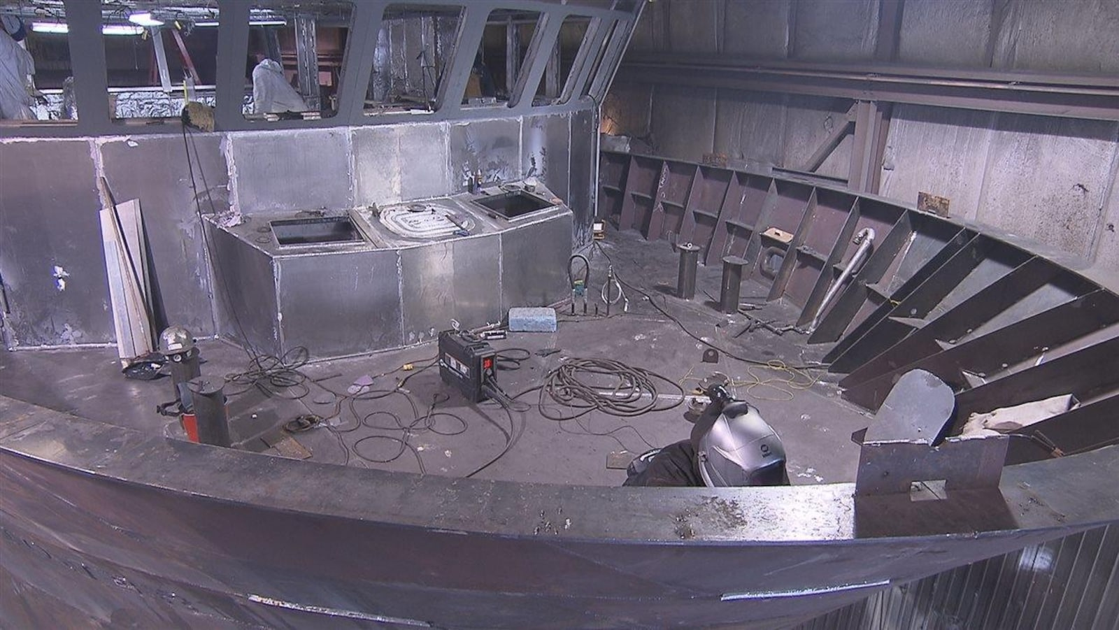 La construction de six navires de recherche et de sauvetage de la Garde côtière canadienne a commencé au chantier naval Forillon de Gaspé