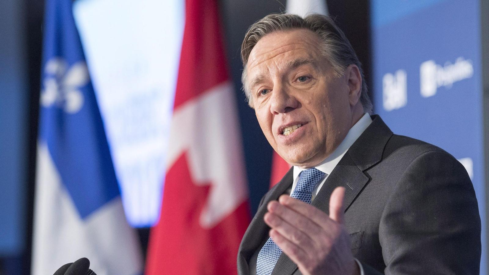 Le chef de la Coalition avenir Québec, François Legault.