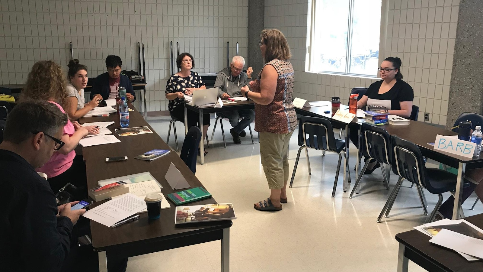 Classe de français pour adultes en immersion à l'Université de Regina