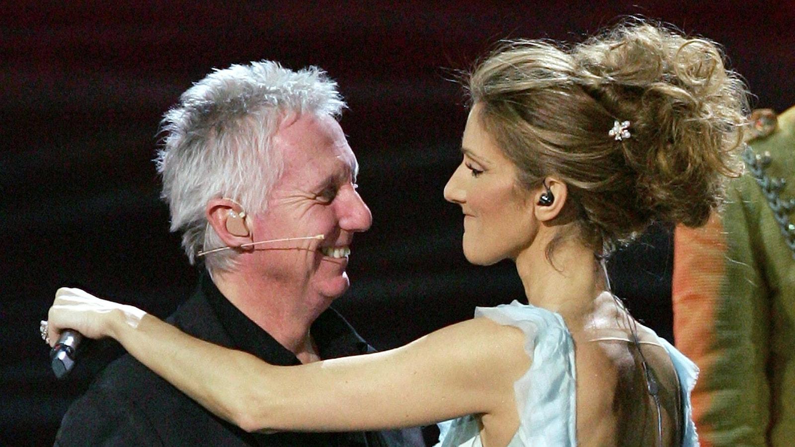Claude «Mégo» Lemay avec Céline Dion lors d'un spectacle à Las Vegas, en 2007.