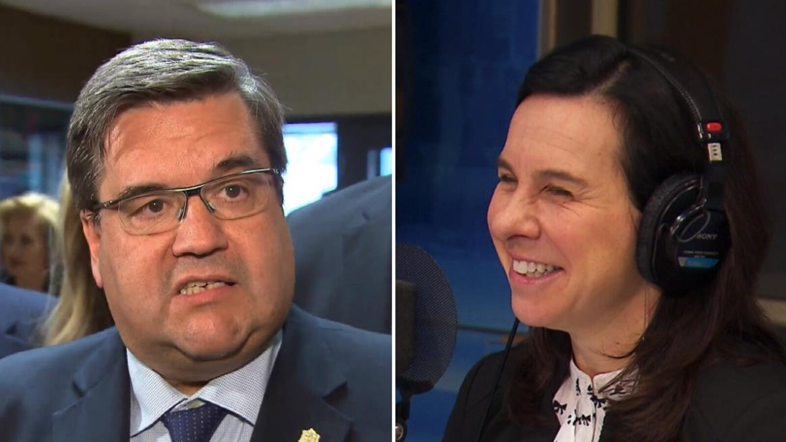 Les deux principaux adversaires à la mairie de Montréal, Denis Coderre et Valérie Plante