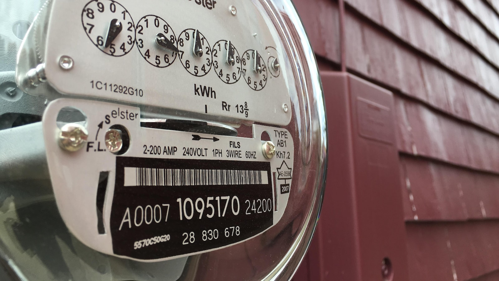 Un compteur électrique.