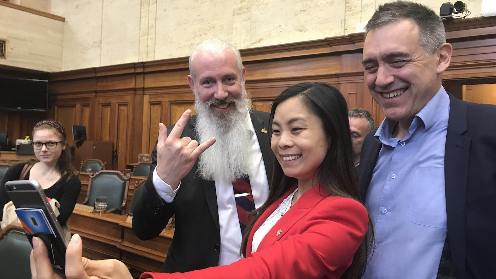 Sterling Downey, Cathy Wong et Alexandre Norris.