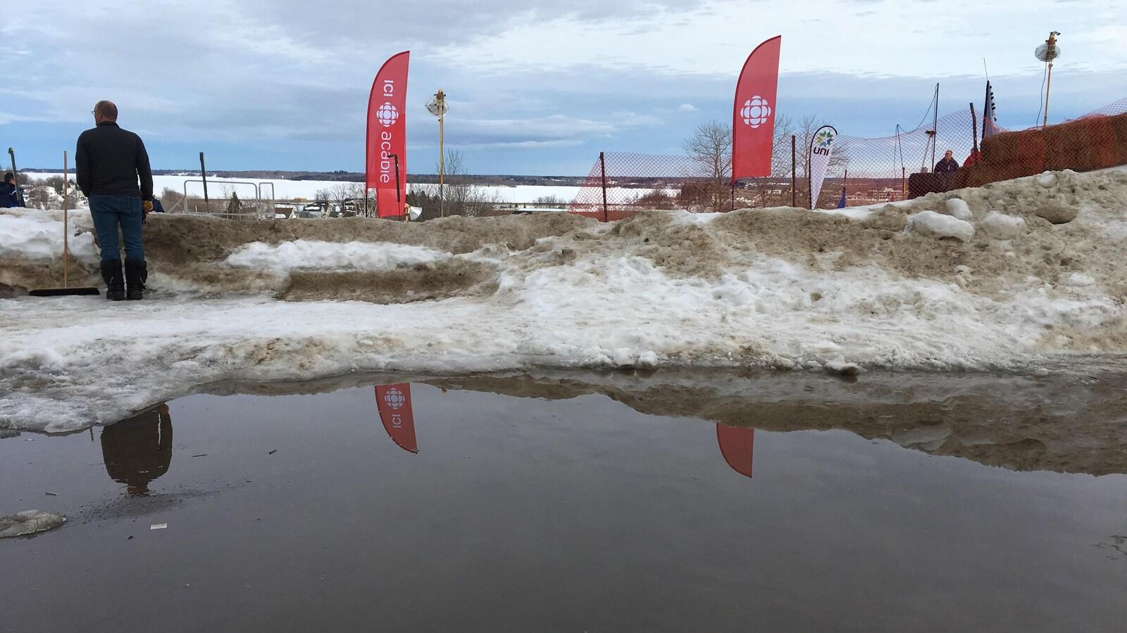Piste de patinage extrême réduite en eau