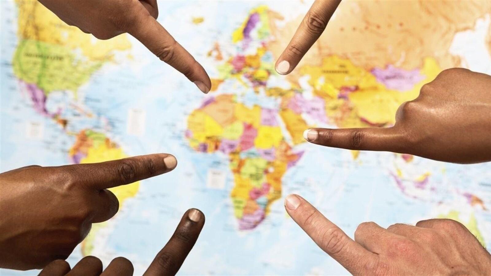Carte de l'Afrique.