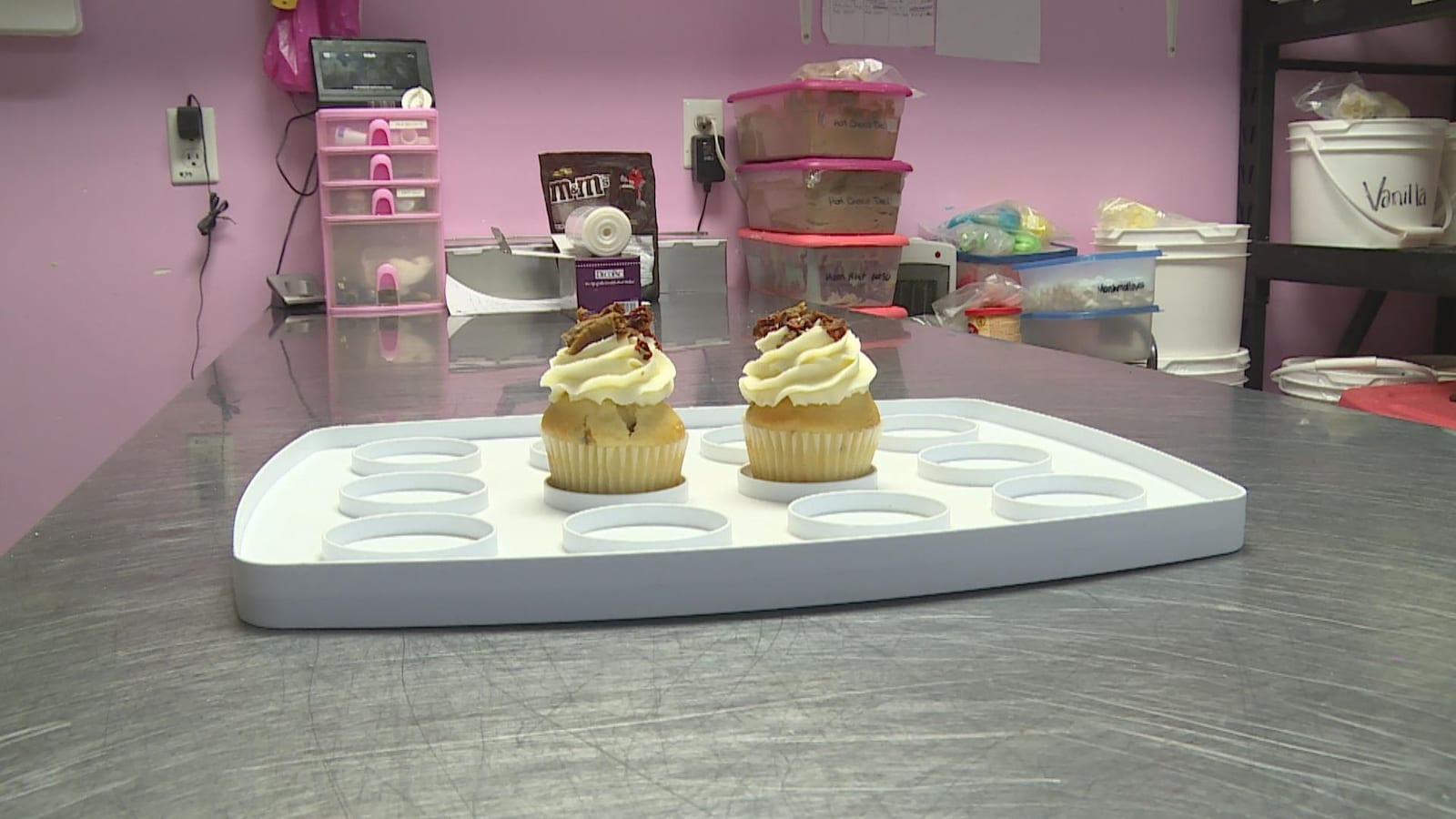 Les cupcakes au donair de la pâtisserie Susies' Cupcake à Halifax.