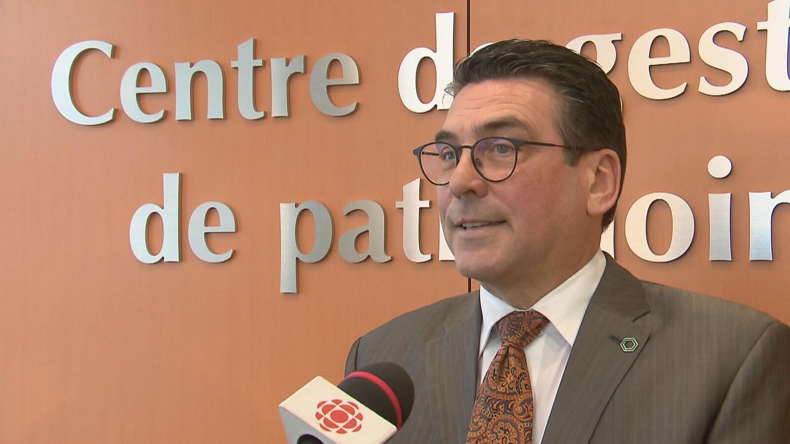 Denis Laforest, directeur général de la Caisse Desjardins de Québec