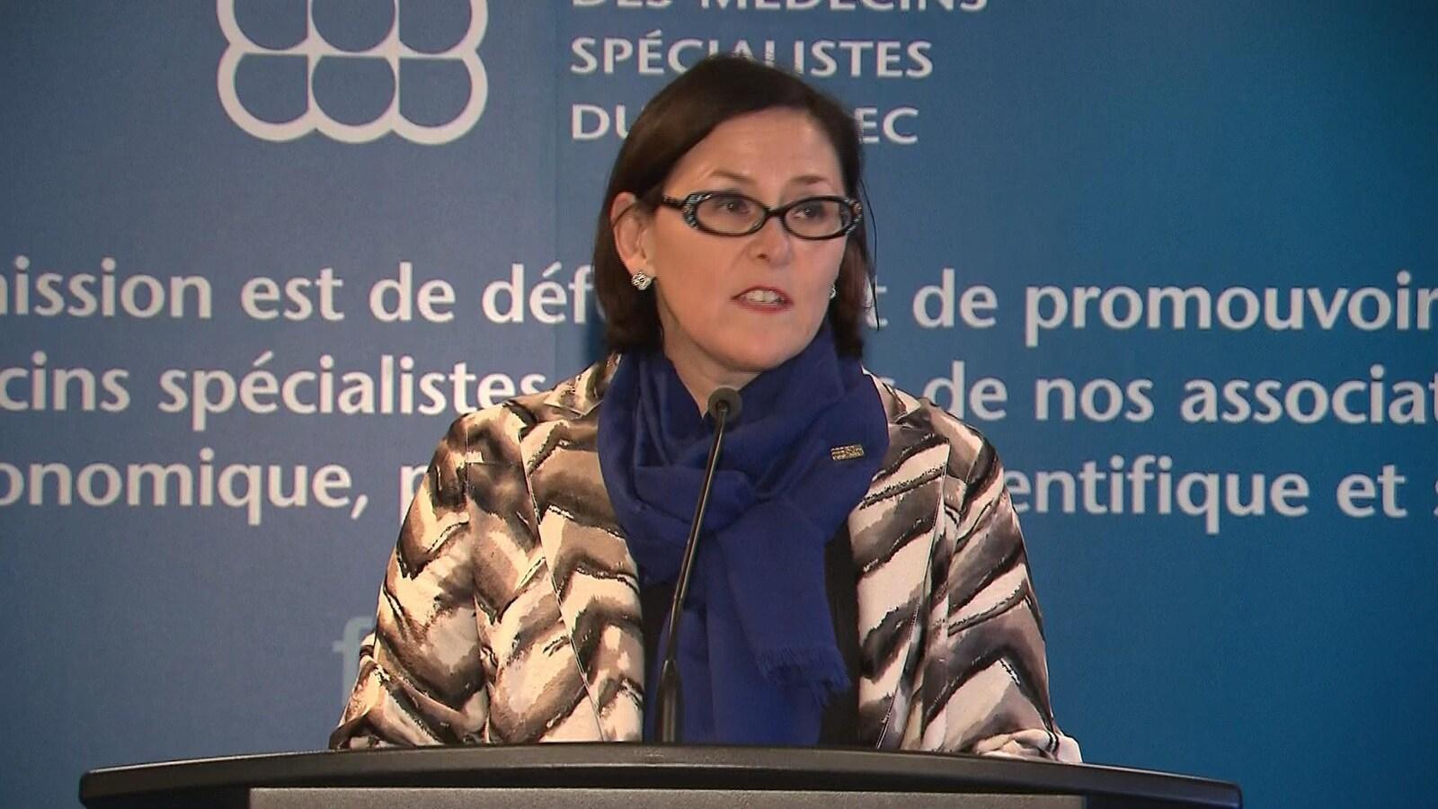 Diane Francoeur, présidente de la Fédération des médecins spécialistes du Québec