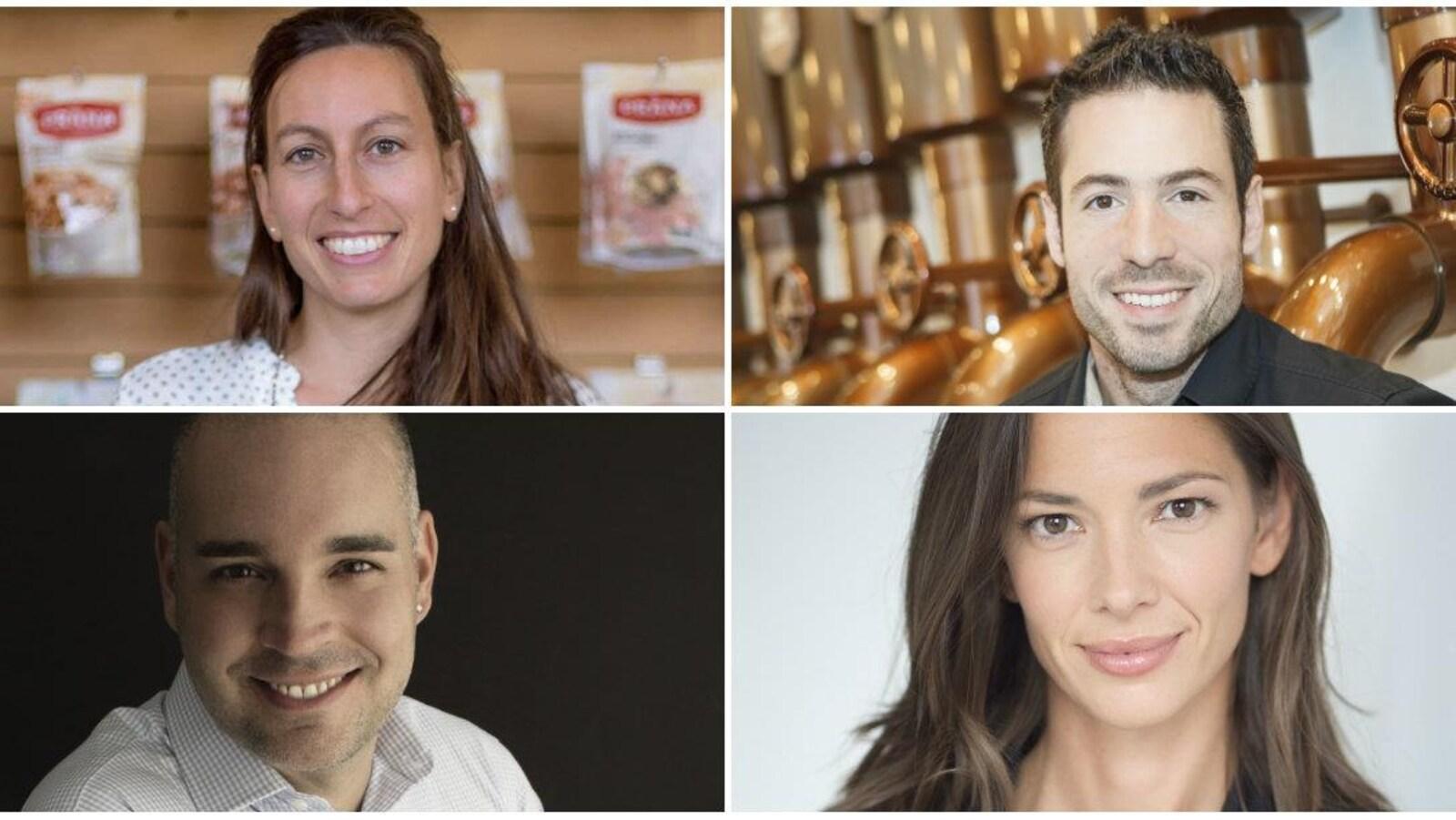 Les quatre portraits des quatre personnes nommées.
