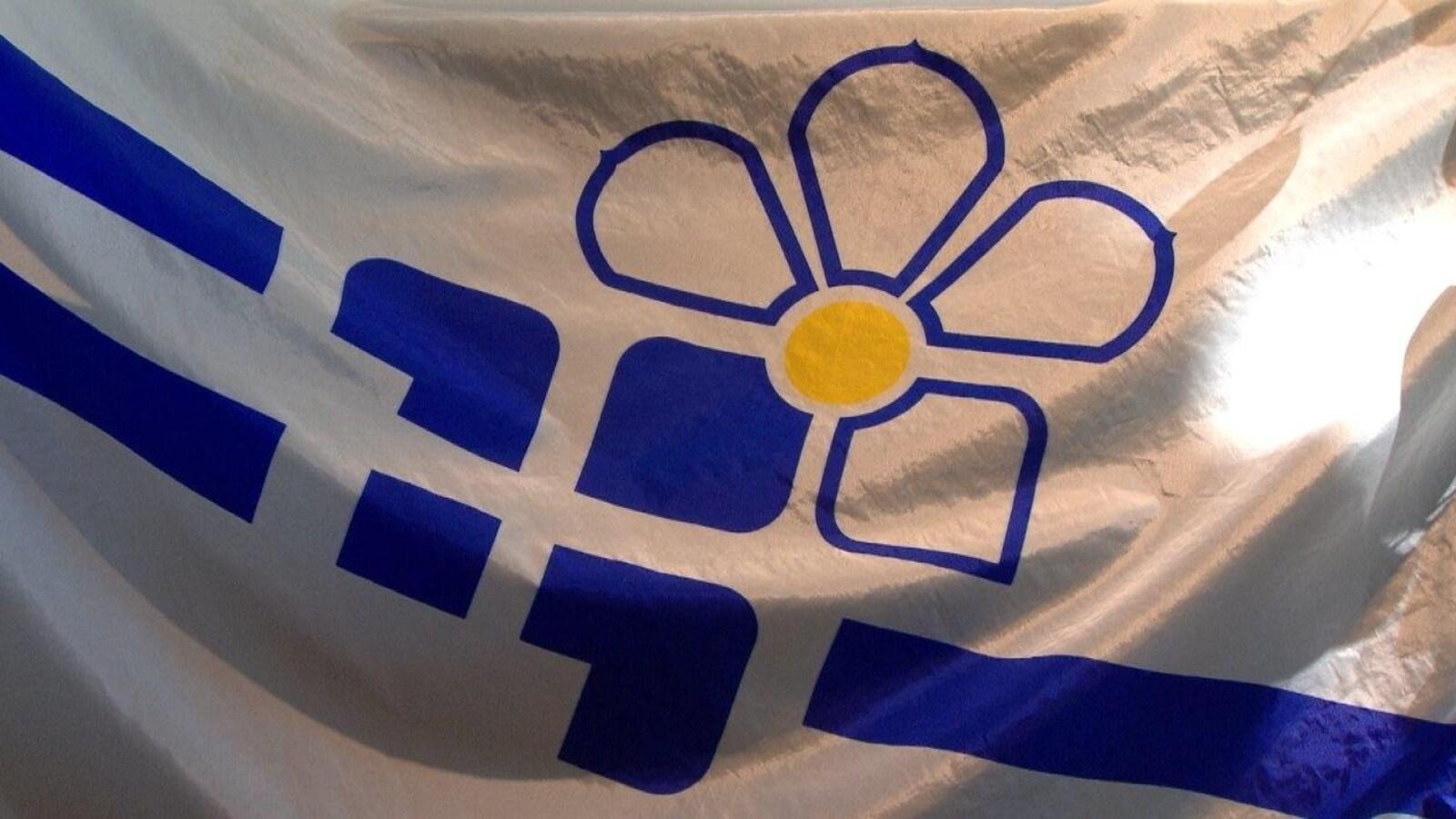Le drapeau des francophones de la Colombie-Britannique