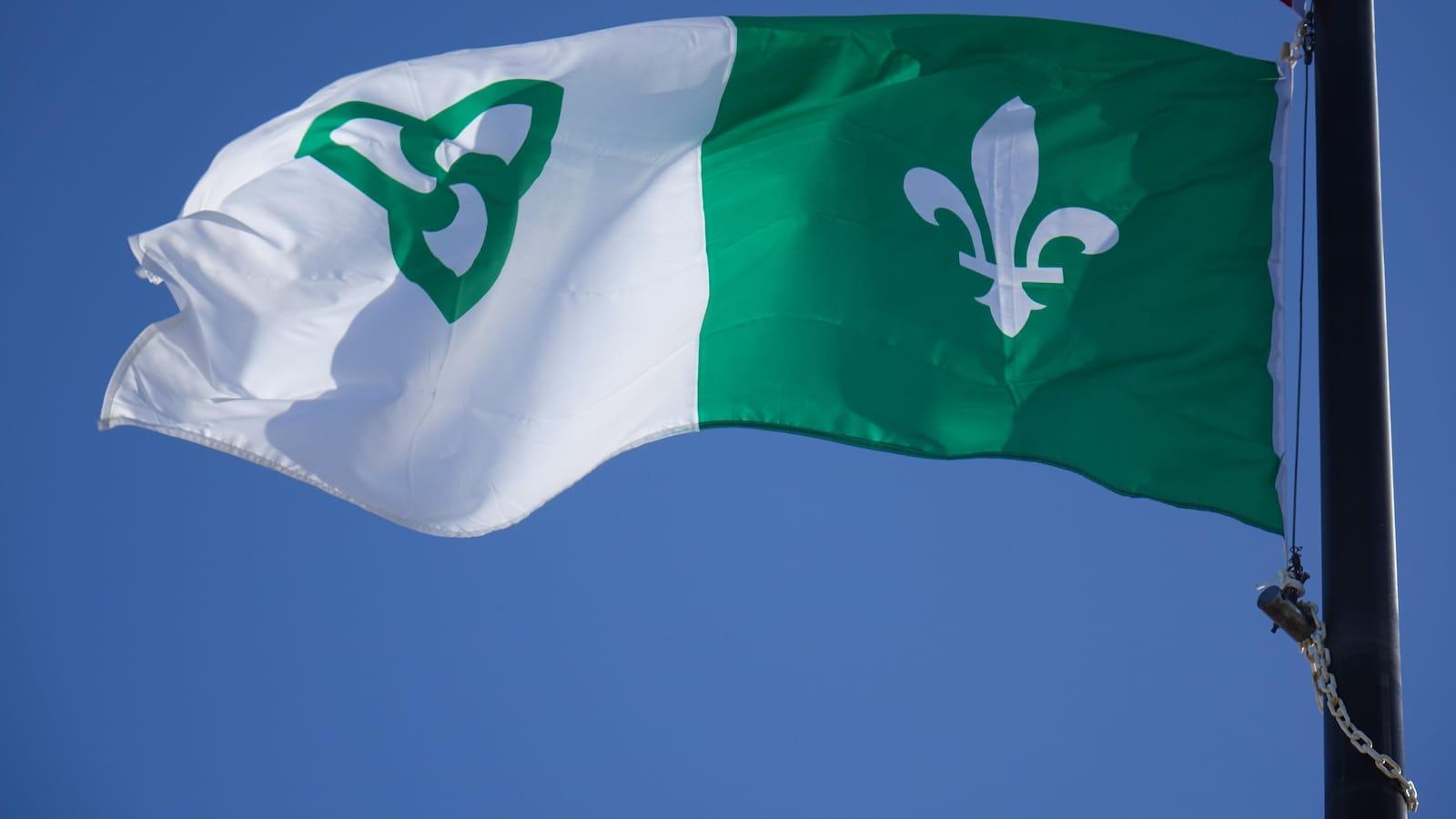 Le drapeau franco-ontarien.