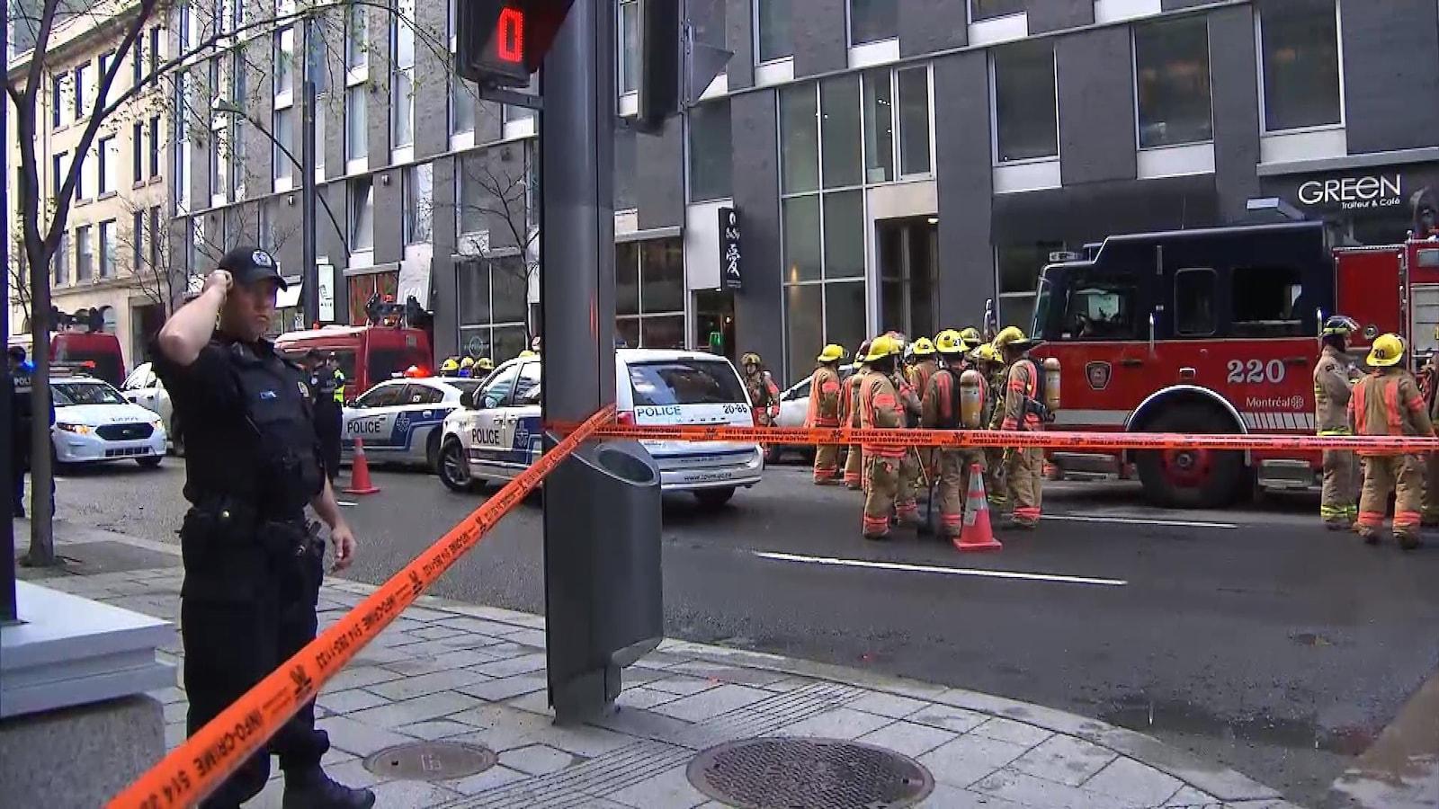L'immeuble situé au 445 avenue Viger a dû être évacué jeudi à la suite d'un déversement de Magnatrol.