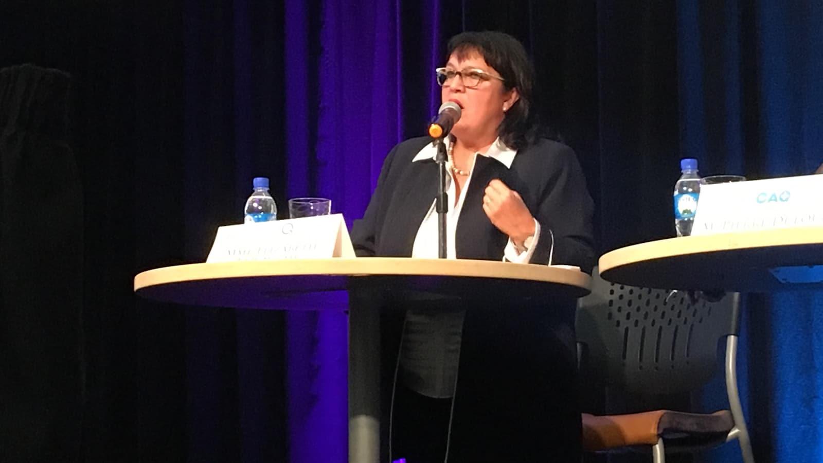 Élizabeth Larouche est candidate pour le Parti québécois dans la circonscription d'Abitibi-Est.