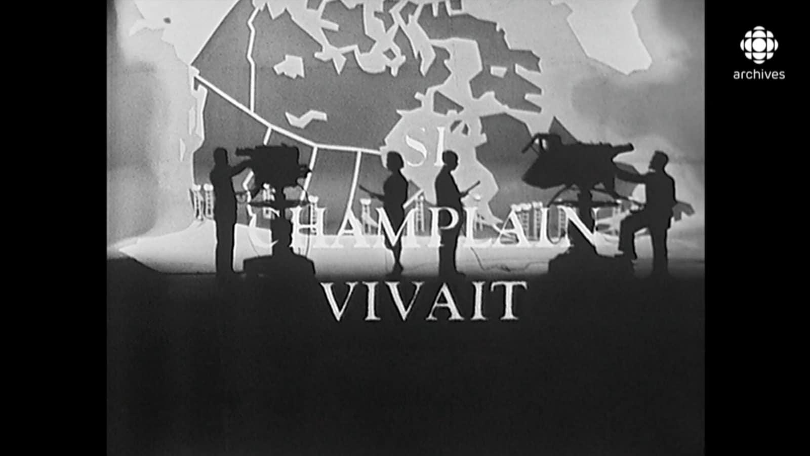 Ouverture de l'émission montrant les animateurs dos à dos, parlant à la caméra devant une grande carte du Canada.
