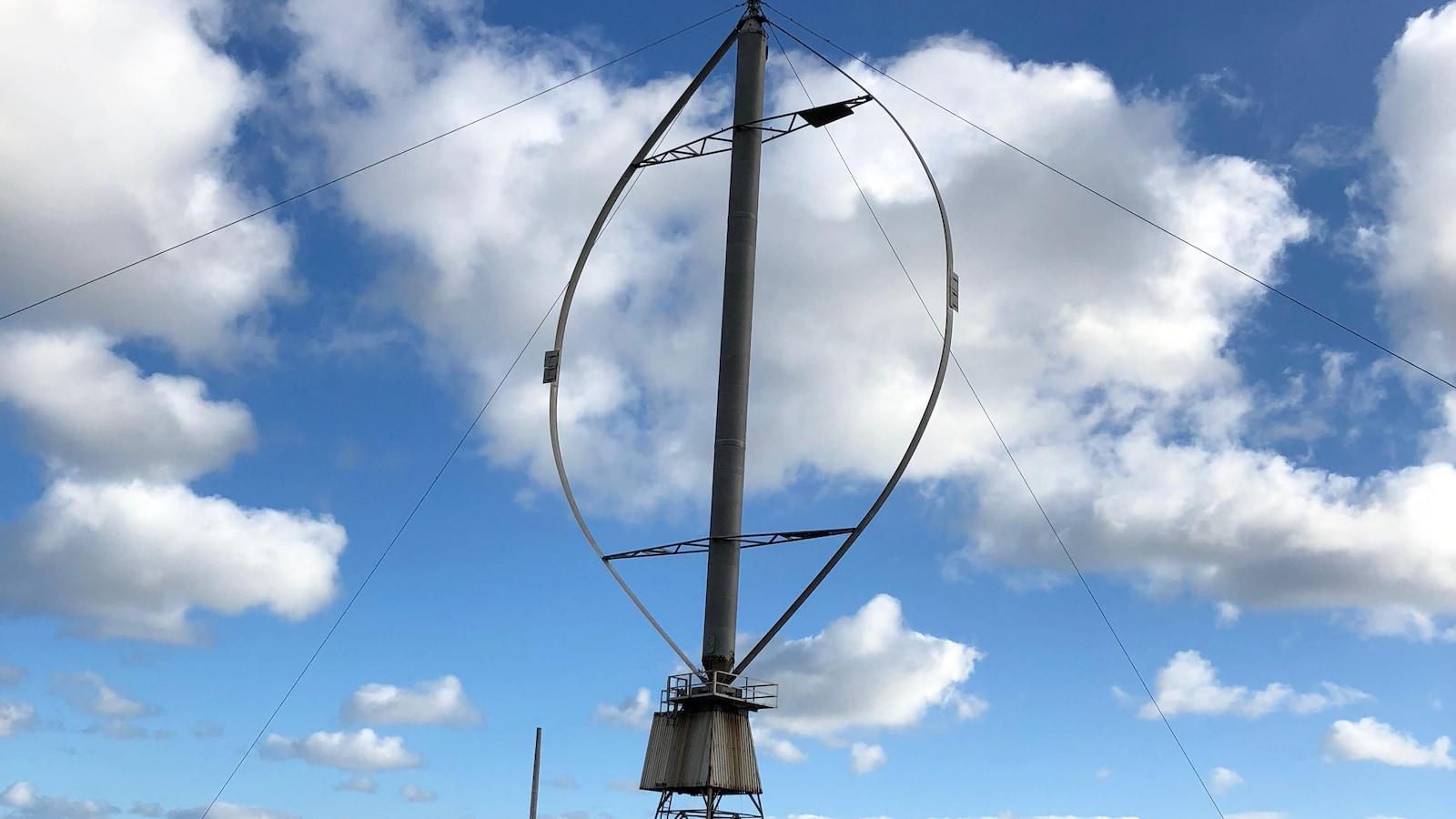 L'éolienne du site de la Cormorandière, à Havre-aux-Maisons