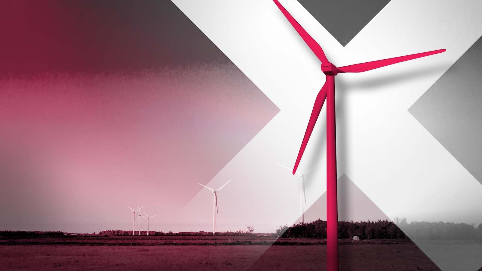 Une photo d'un paysage rural avec plusieurs éoliennes