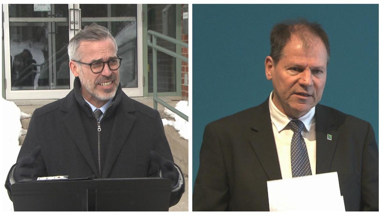 Les visages des deux candidats
