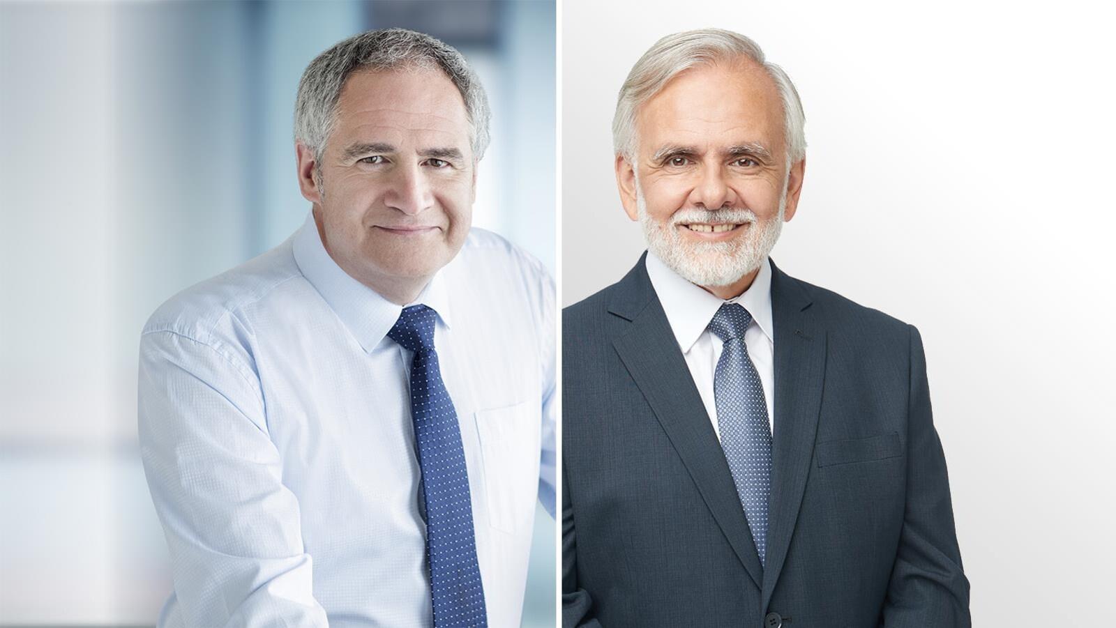 Éric Tétrault et Normand Sauvageau