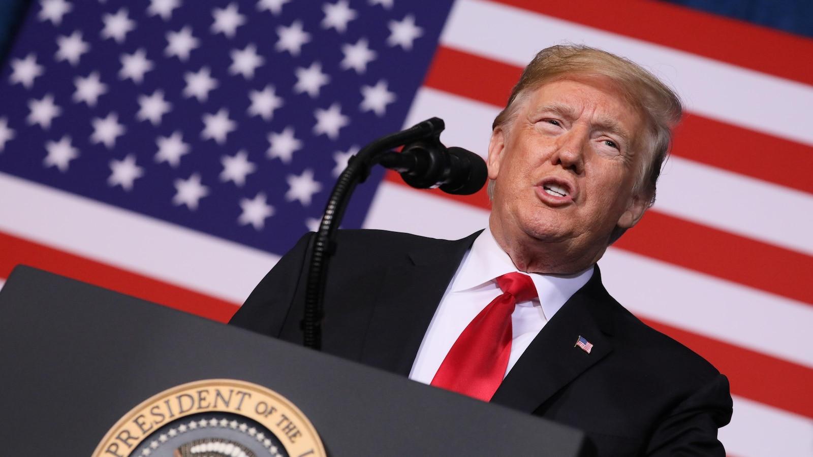 Le président américain lors d'un discours