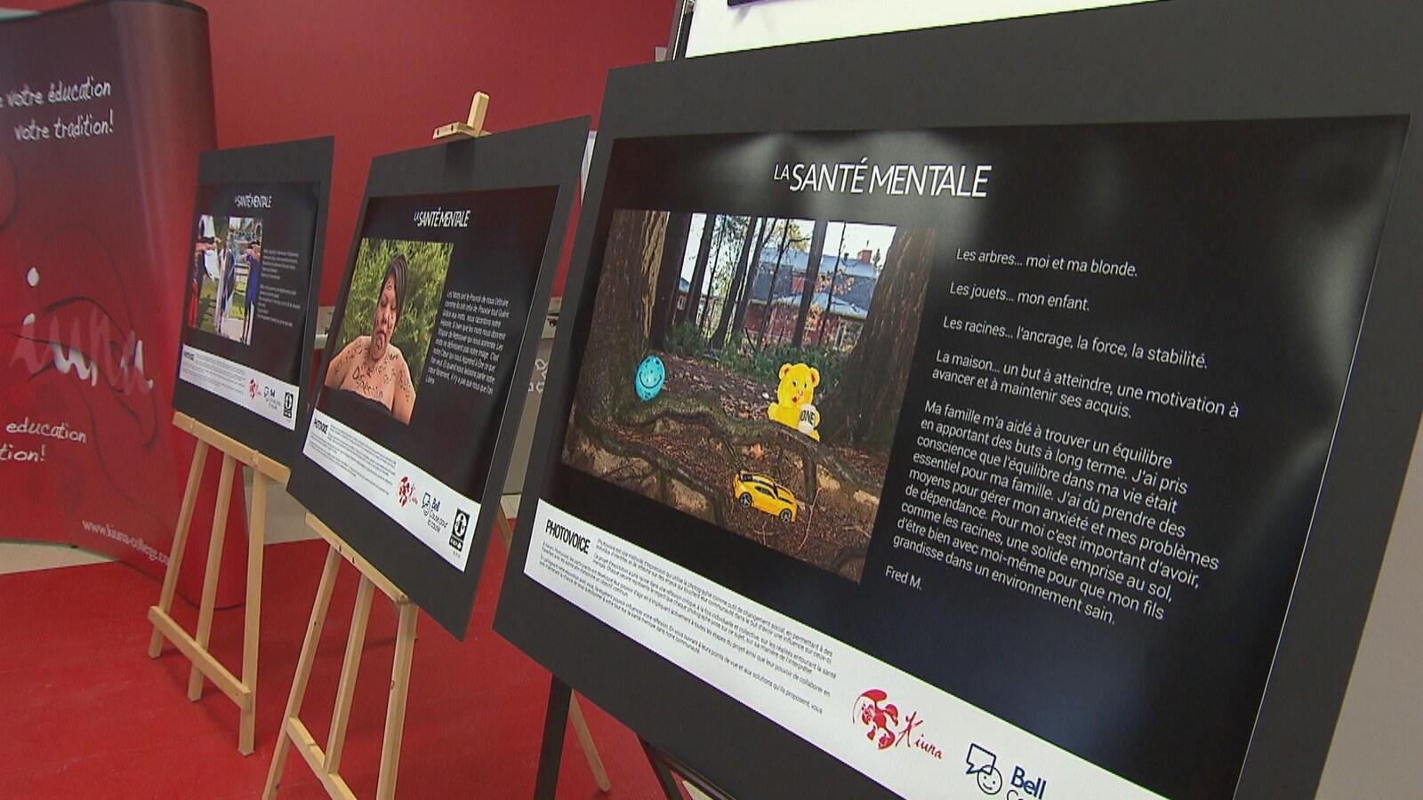 Quelques photos présentées dans le cadre de l'exposition Photovoice, à l'Institution Kiuna.
