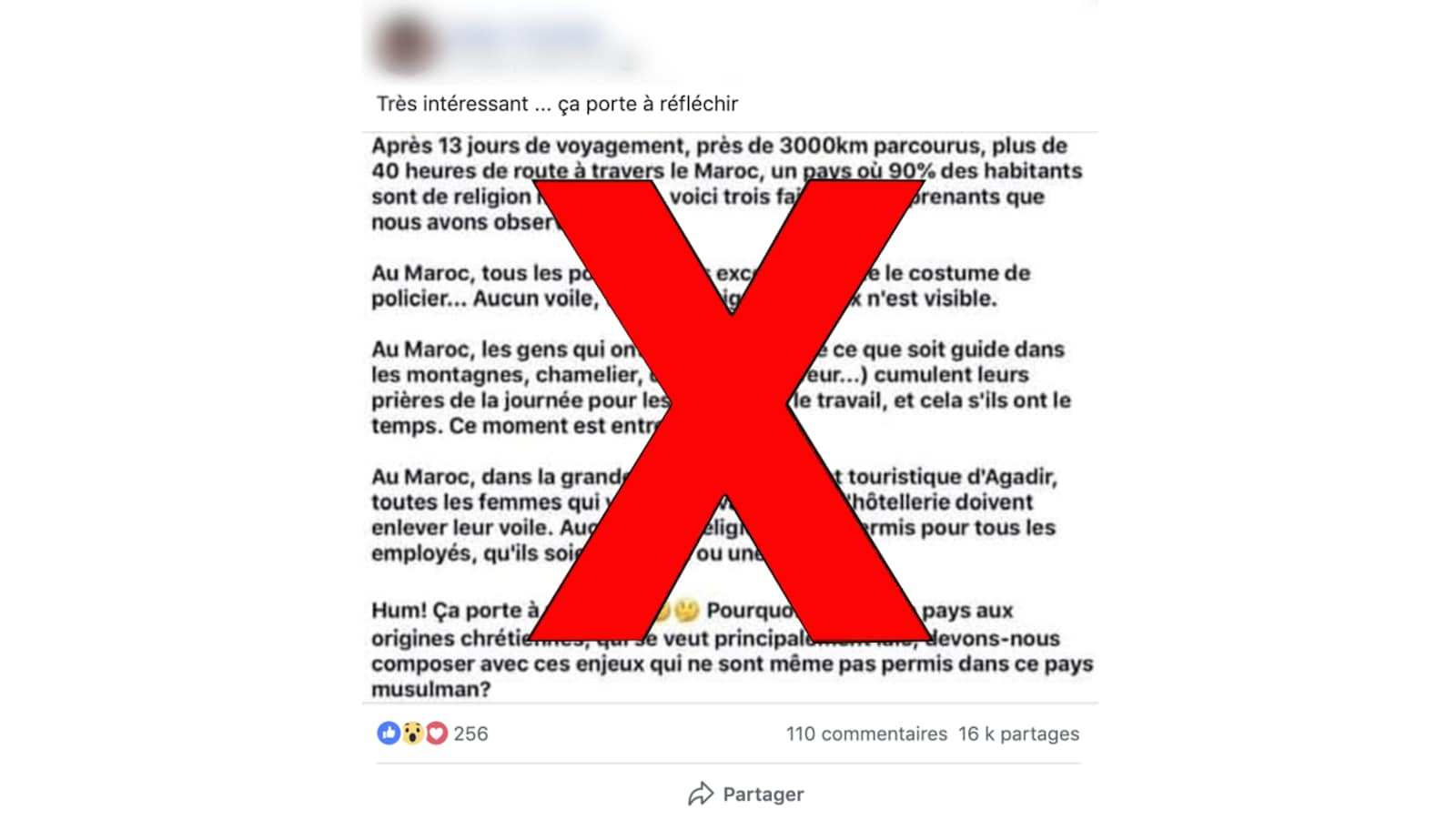 Une publication virale sur les réseaux sociaux prétend que le port du voile n'est pas permis en milieu de travail au Maroc.