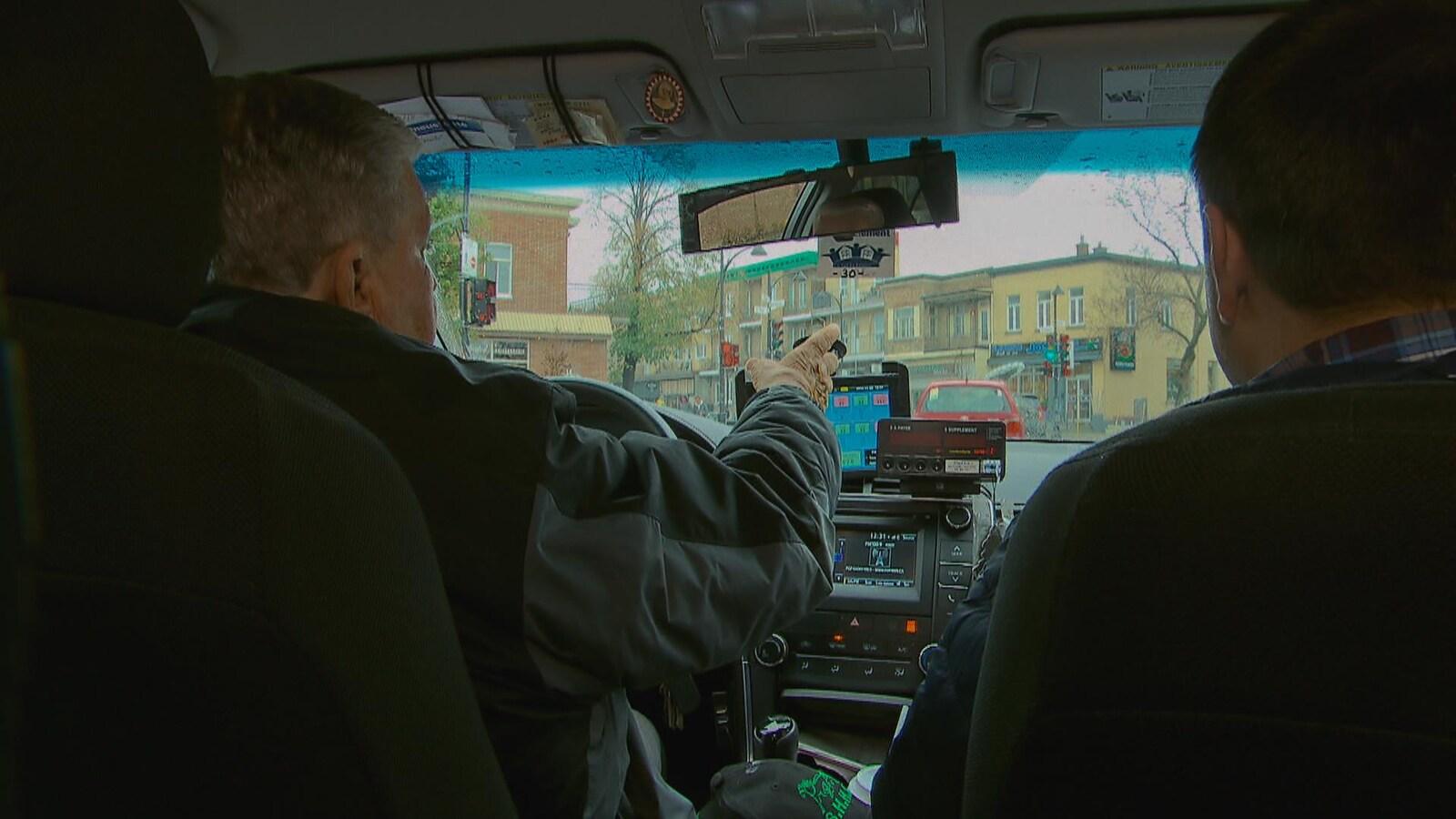 Les chauffeurs de taxi sont mal pris!