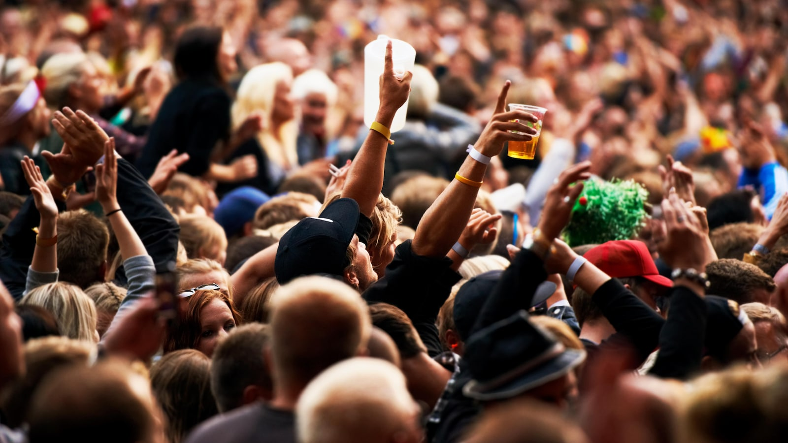 Une foule de festivaliers
