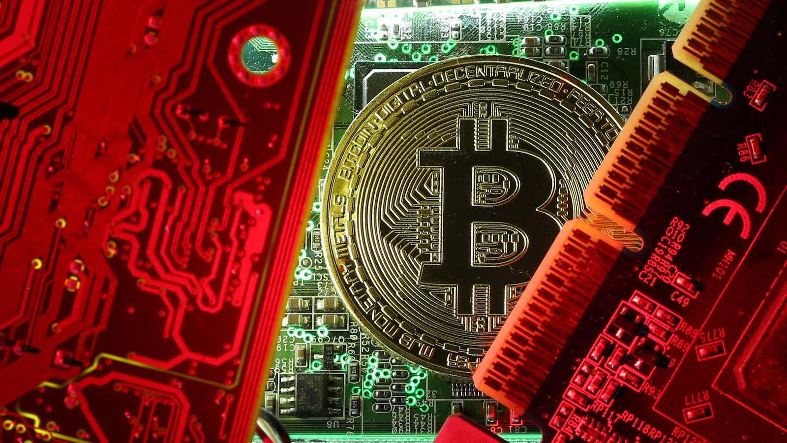 Une pièce de monnaie représentant un bitcoin