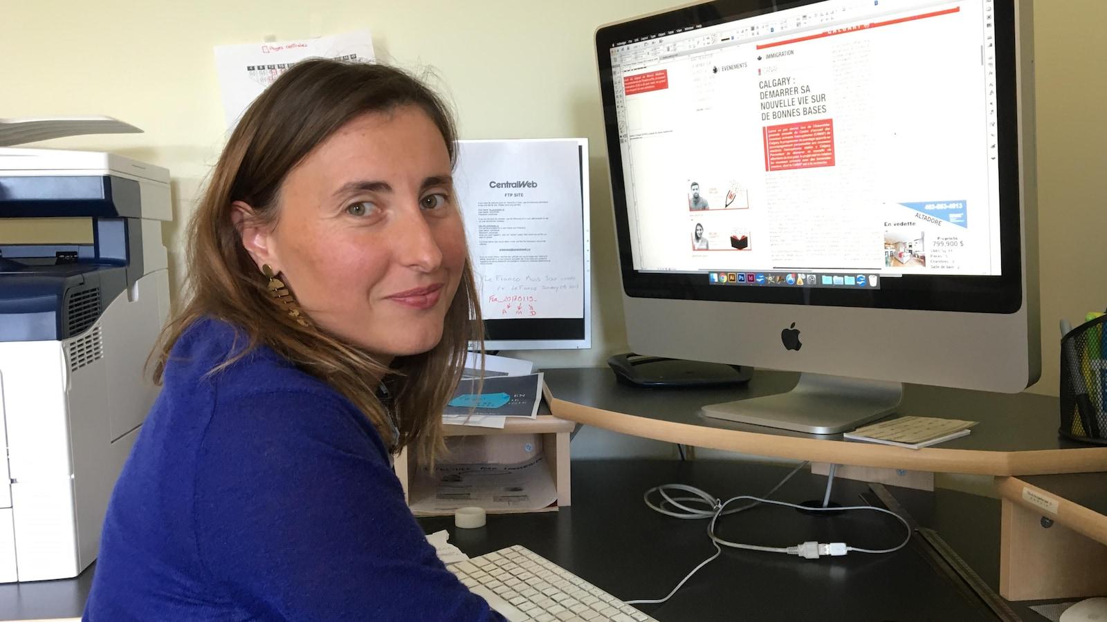La rédactrice en chef du « Franco », Hélène Lequitte.