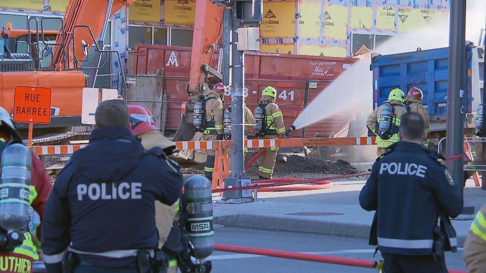Importante fuite de gaz sur le boulevard René-Lévesque.