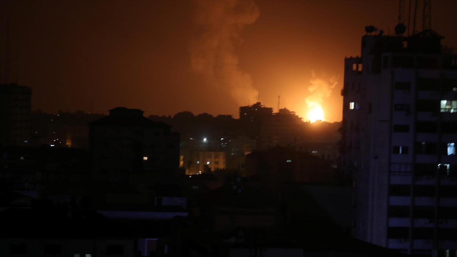 Raids aériens d'Israël contre la bande de Gaza