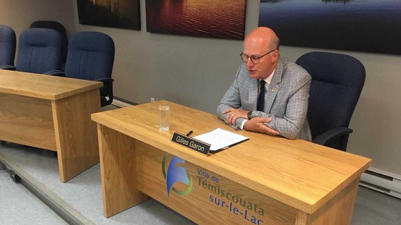 Le maire démissionnaire de Témiscouata-sur-le-Lac, Gilles Garon
