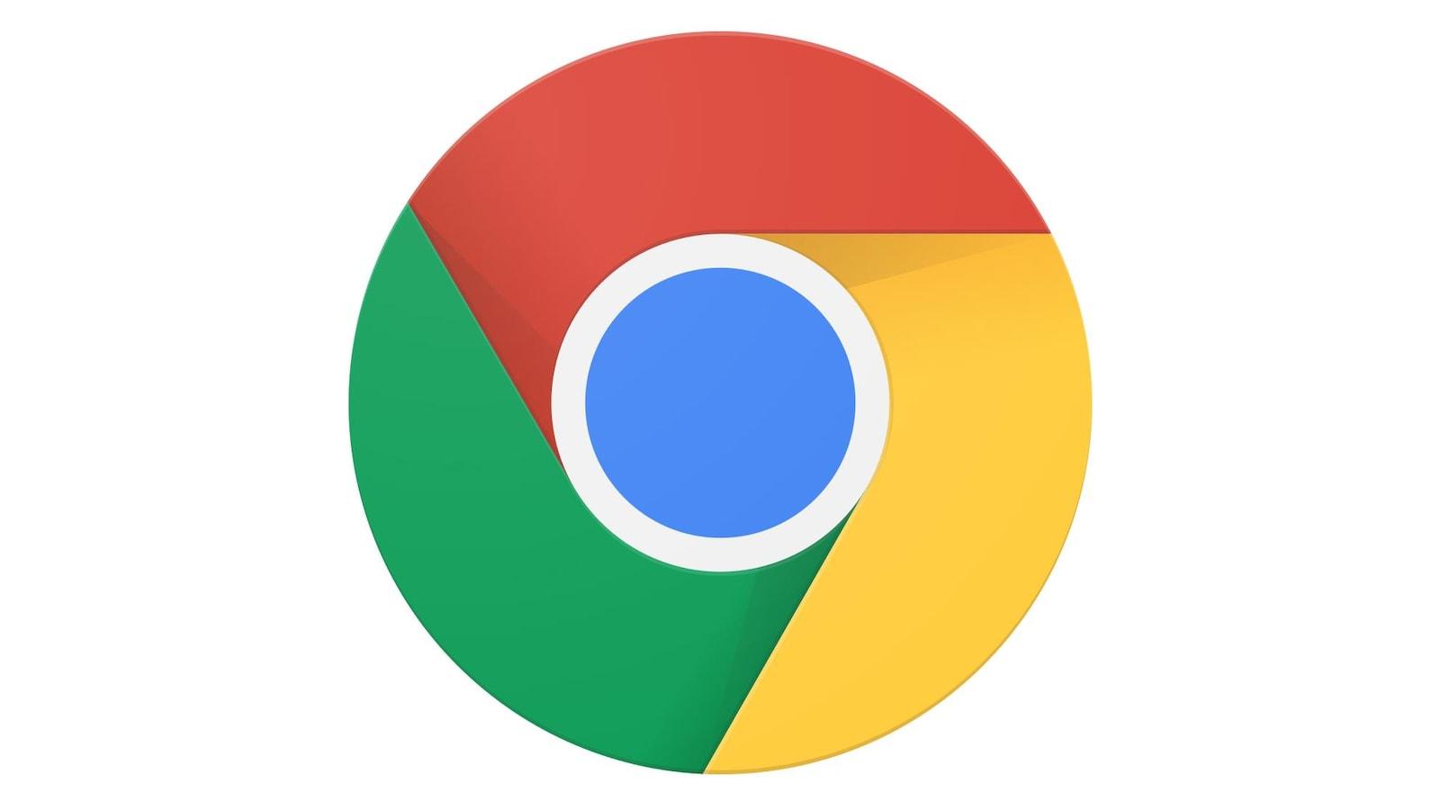 Une image montrant le logo de Google Chrome sur un fond blanc.