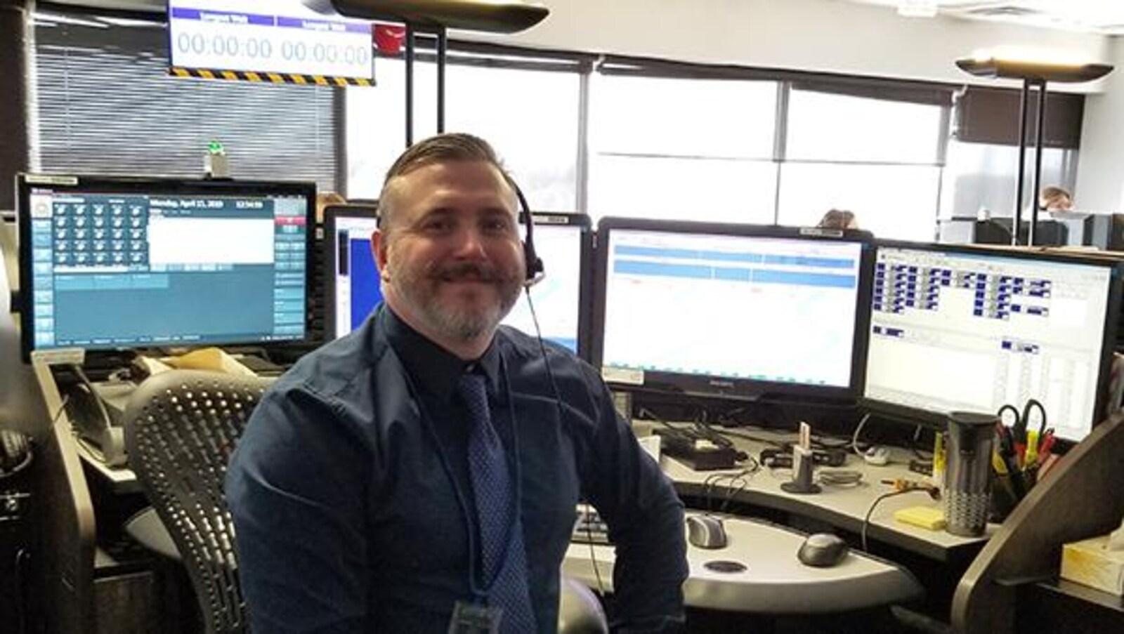 René Gougeon, opérateur d'urgence à Gendarmerie royale du Canada.