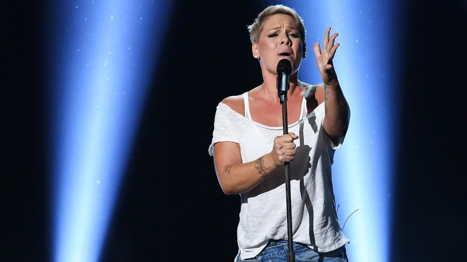 La chanteuse Pink lors de la cérémonie des prix Grammy en 2018