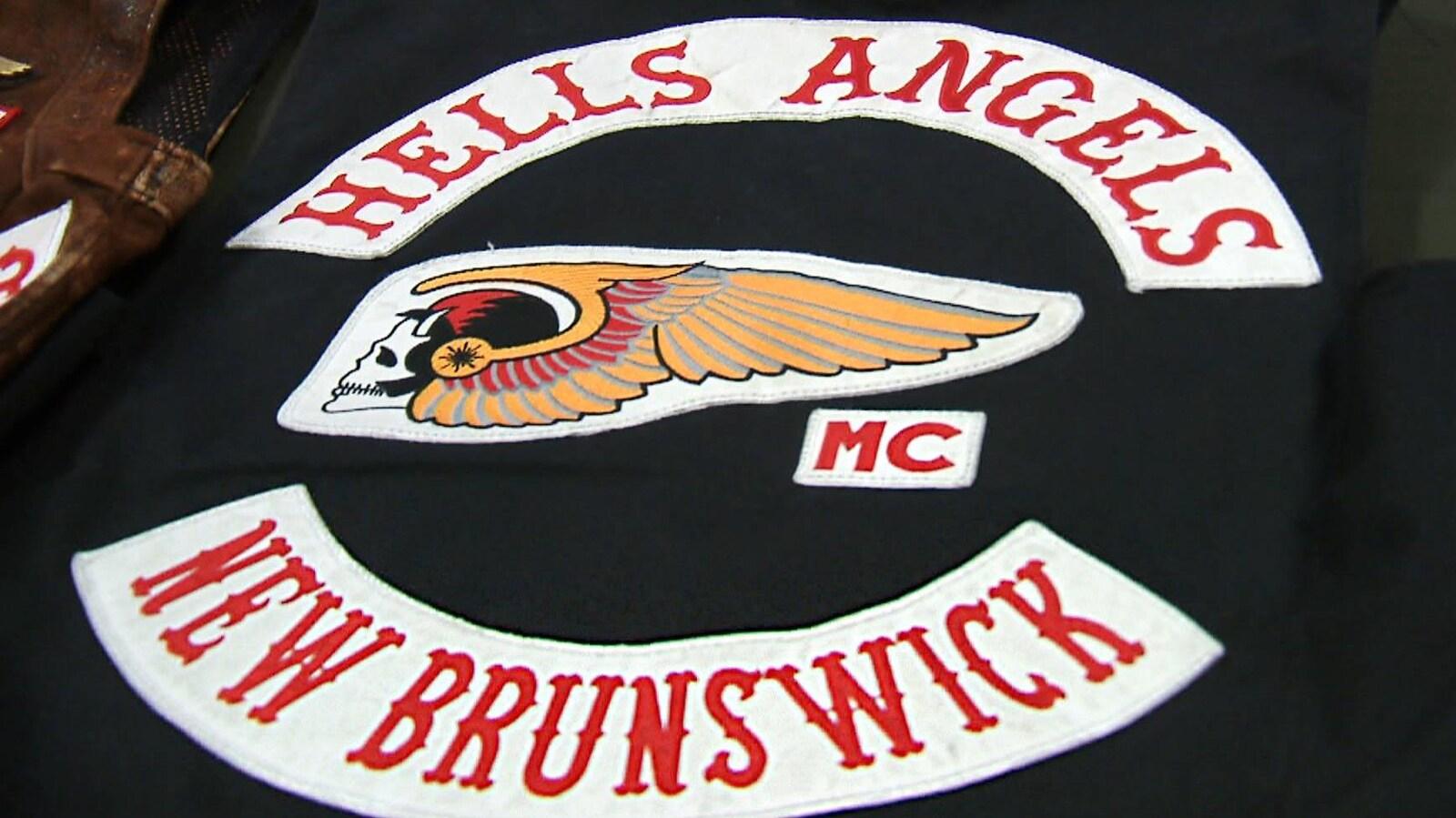 Veste aux couleurs des Hells Angels du Nouveau-Brunswick.