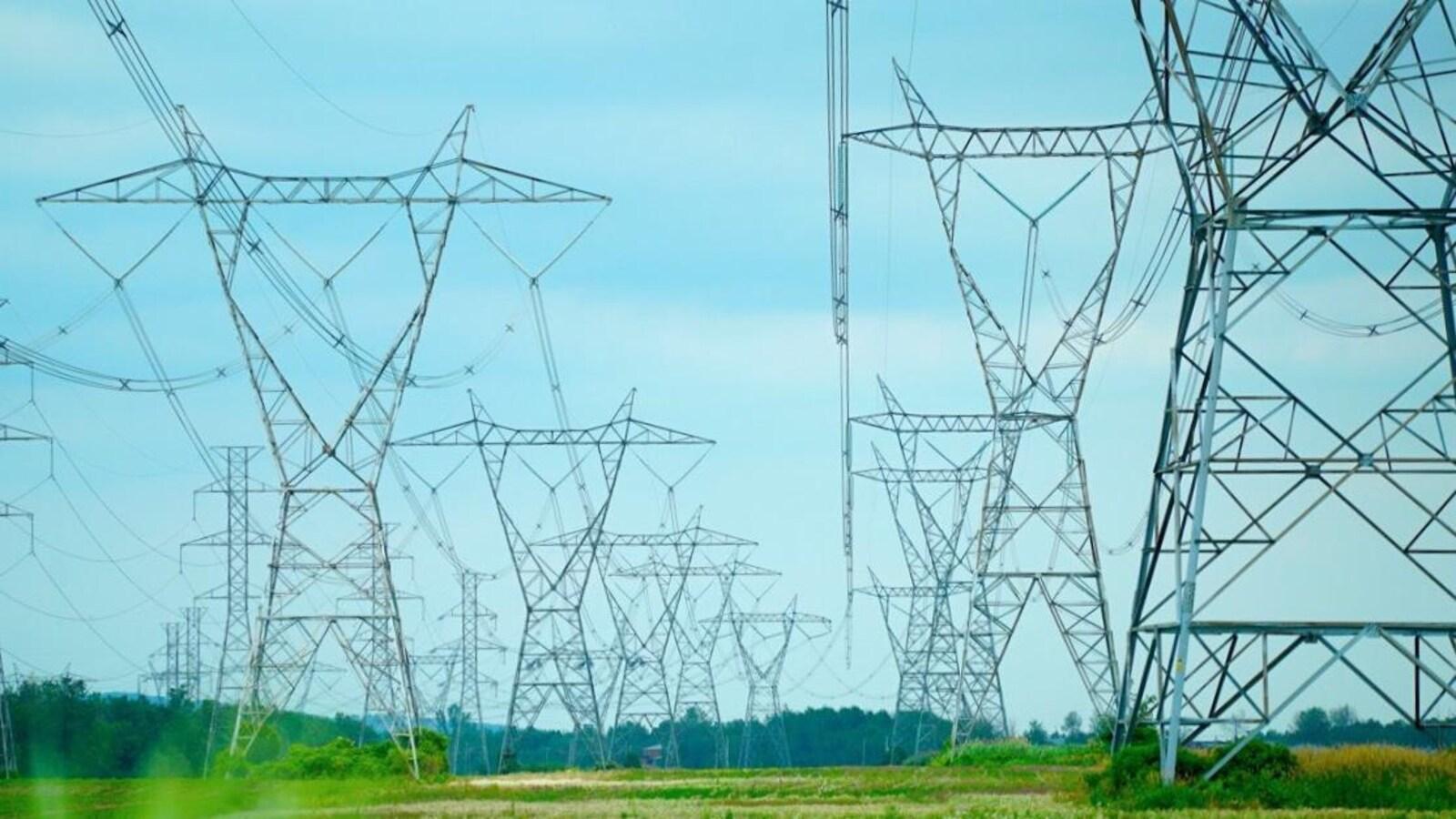 Lignes électriques d'Hydro-Québec