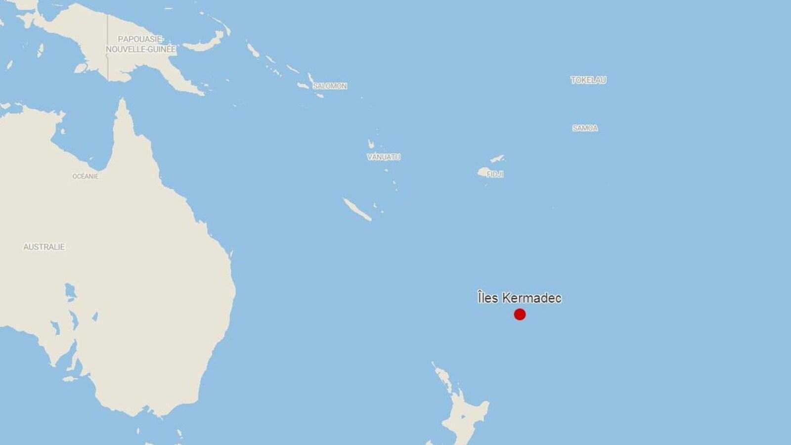 Séisme de magnitude 7,4 près des îles Kermadec