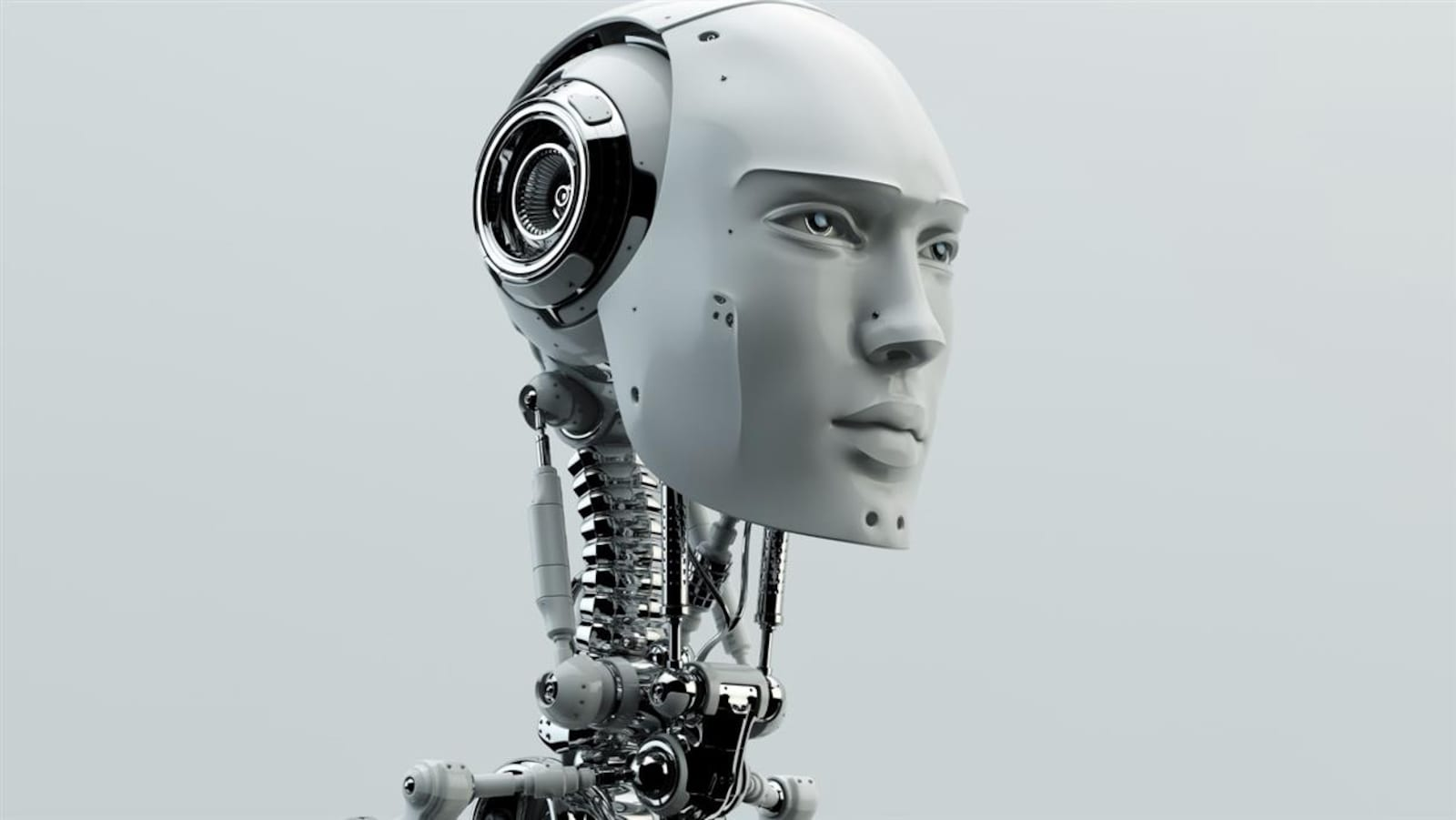 Visage d'un robot.