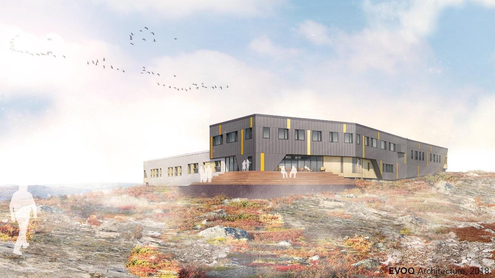 Les plans du nouveau centre de traitement en dépendances Isuarsivik à  Kuujjuaq, au Nunavik.